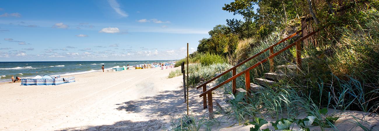 Prywatne zejście na plażę